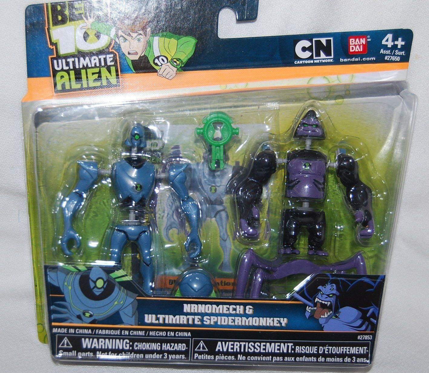 Amazon.com: Ben 10 Alien Creation Chamber Mini Figure 2Pack Nanomech Ultimate Spidermonkey: Toys & Games