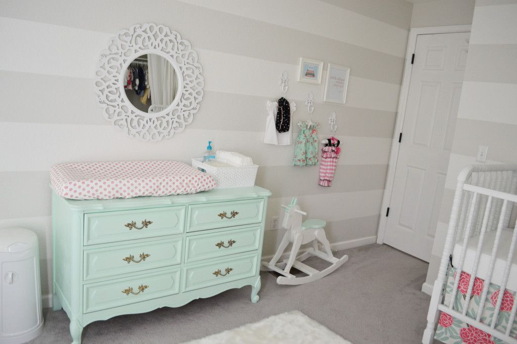 Harper S Mint Pink And Coral Nursery Baby Cuteness