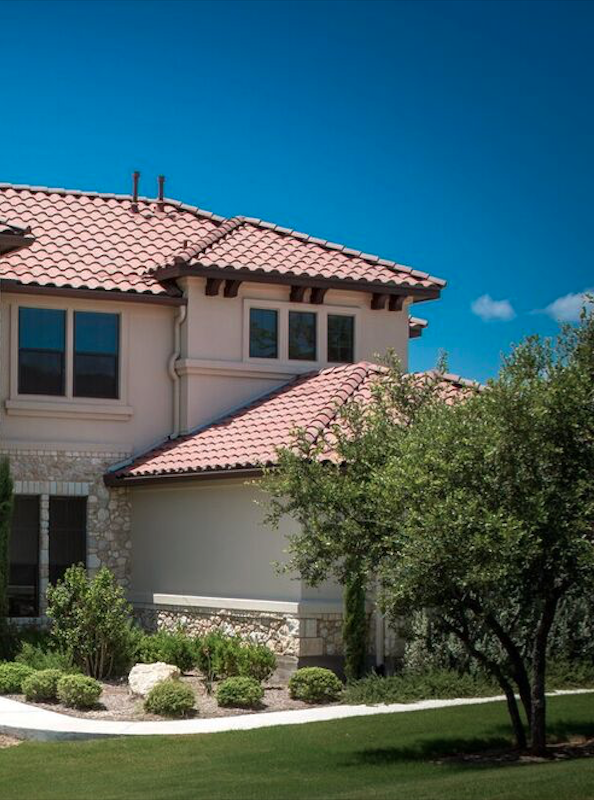 inspiring custom home with spanish red roof tiles exterior paint rh pinterest com