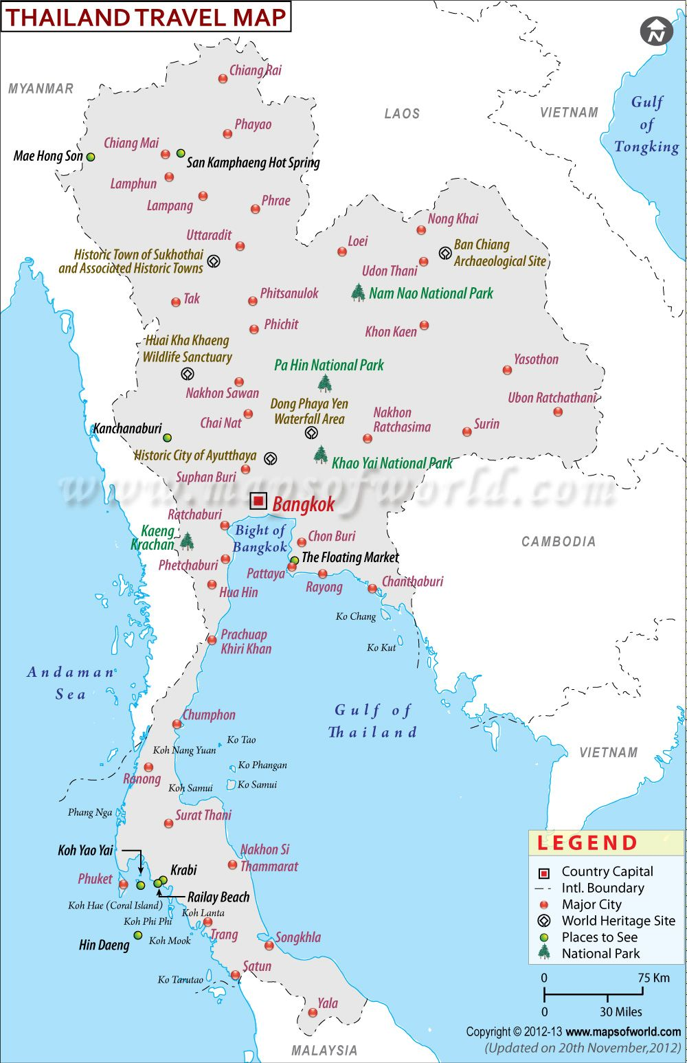 If planning a trip to Thailand dont forget to carry this map This