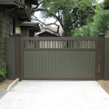 Automated Narrow Driveway Gate Wood Dallas Google Search