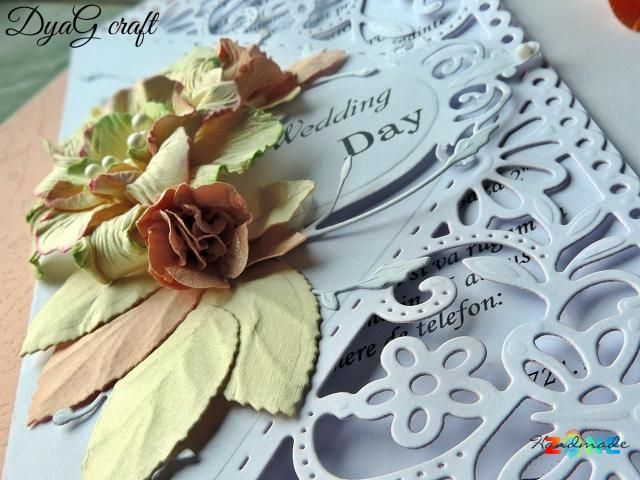 Invitatie nunta Wilde Rose