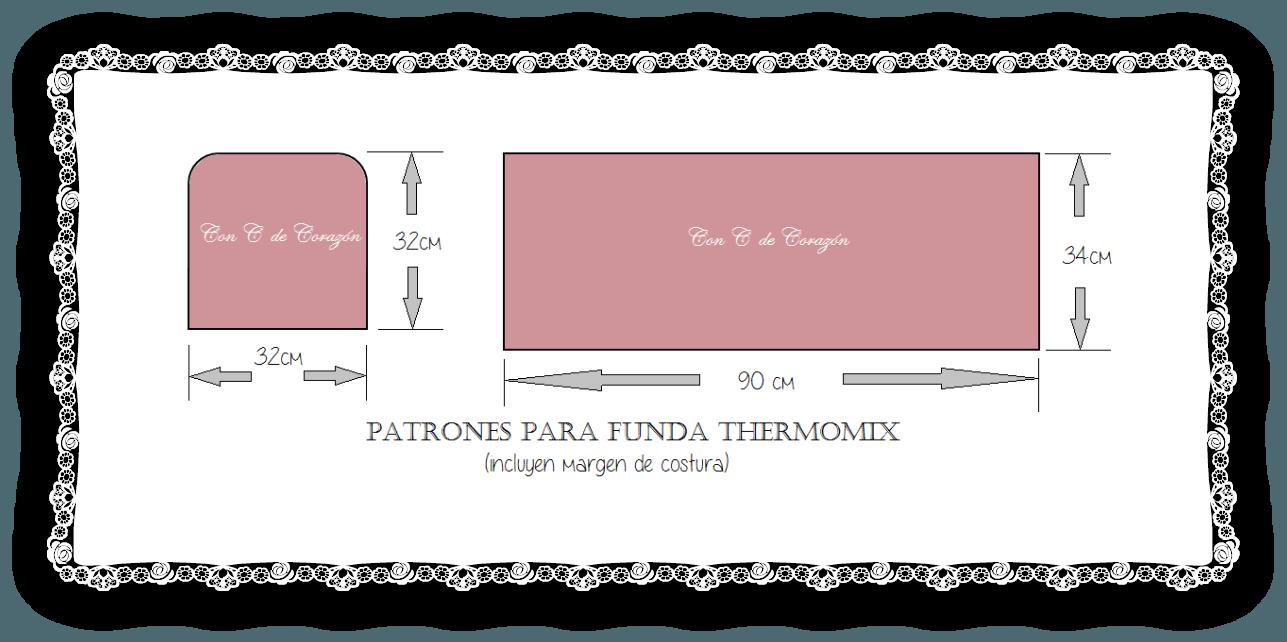 Funda para la thermomix con patrones | Ideas para el hogar