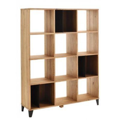 Produit Manhattan Bibliotheque 12 Cases Gris Chene Oak Theme Au Boulot La Deco Ajoute A La Liste De Michel Via 35ans Deco Bibliotheque Deco Meuble Bois