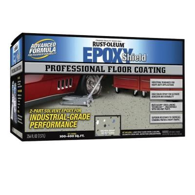 Rust Oleum Epoxy Shield Professional 1 Gal Silver Gray Floor Coating Kit 203845 At The Home Depot With Images Floor Coating Epoxy Floor