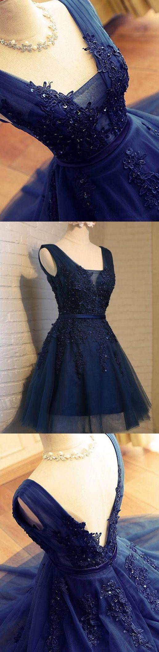 Pin by hana king on dresses pinterest navy prom dresses short