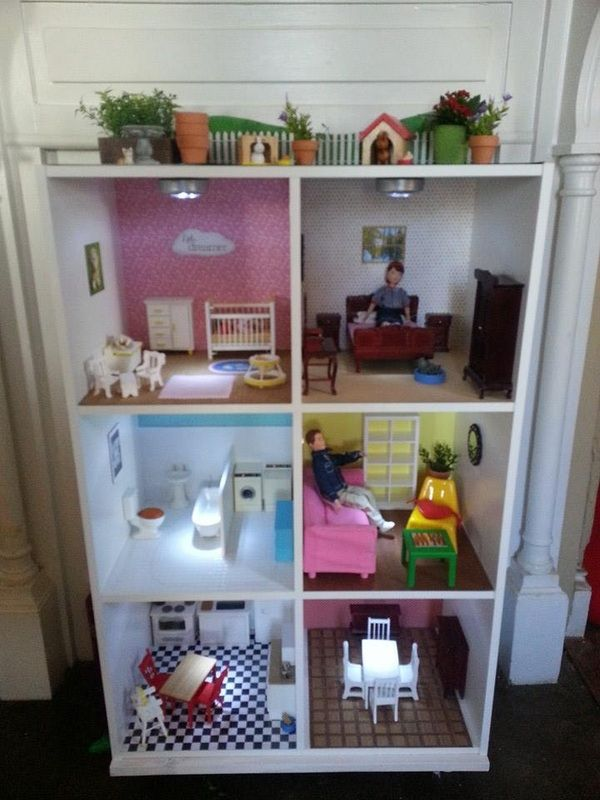 Our Dollhouse From A Target Cubeical Cube Shelf Organizer