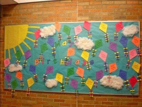 May Birthday Bulletin Board Flying Kites Birthday Bulletin