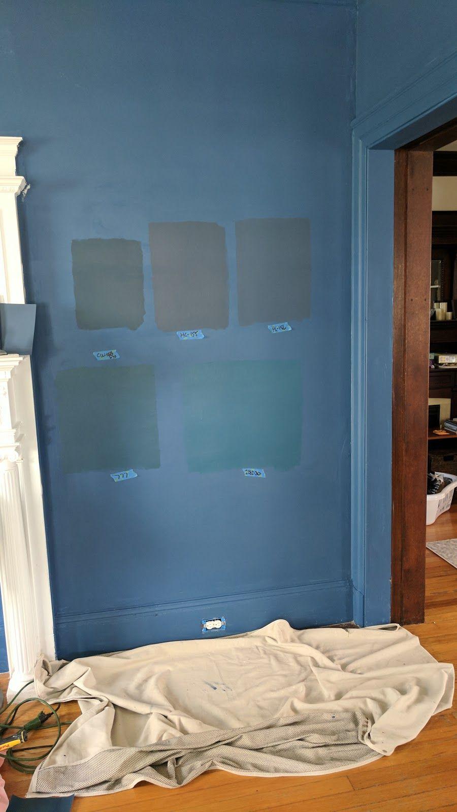 Benjamin Moore Blue Paint Samples Background New York State Of Mind Top Row Washington Newburyport Van Deusen Bottom Summer Nights