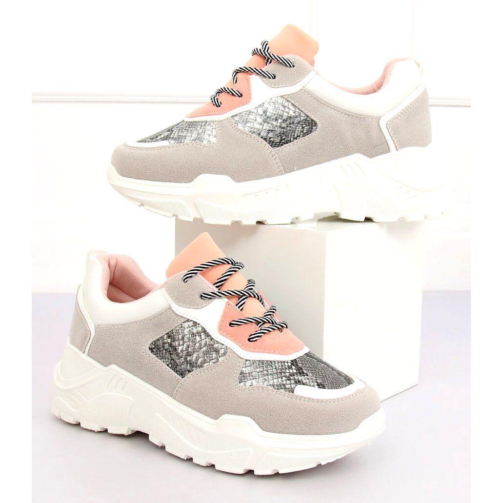 Buty Sportowe Szare Lv88p Snake Sports Shoes Shoes Sport Shoes