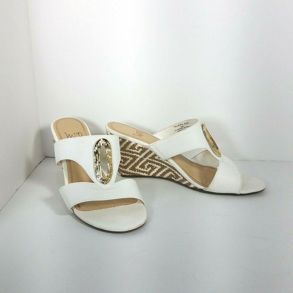 Impo Valmira Womens White Wedge Sandals