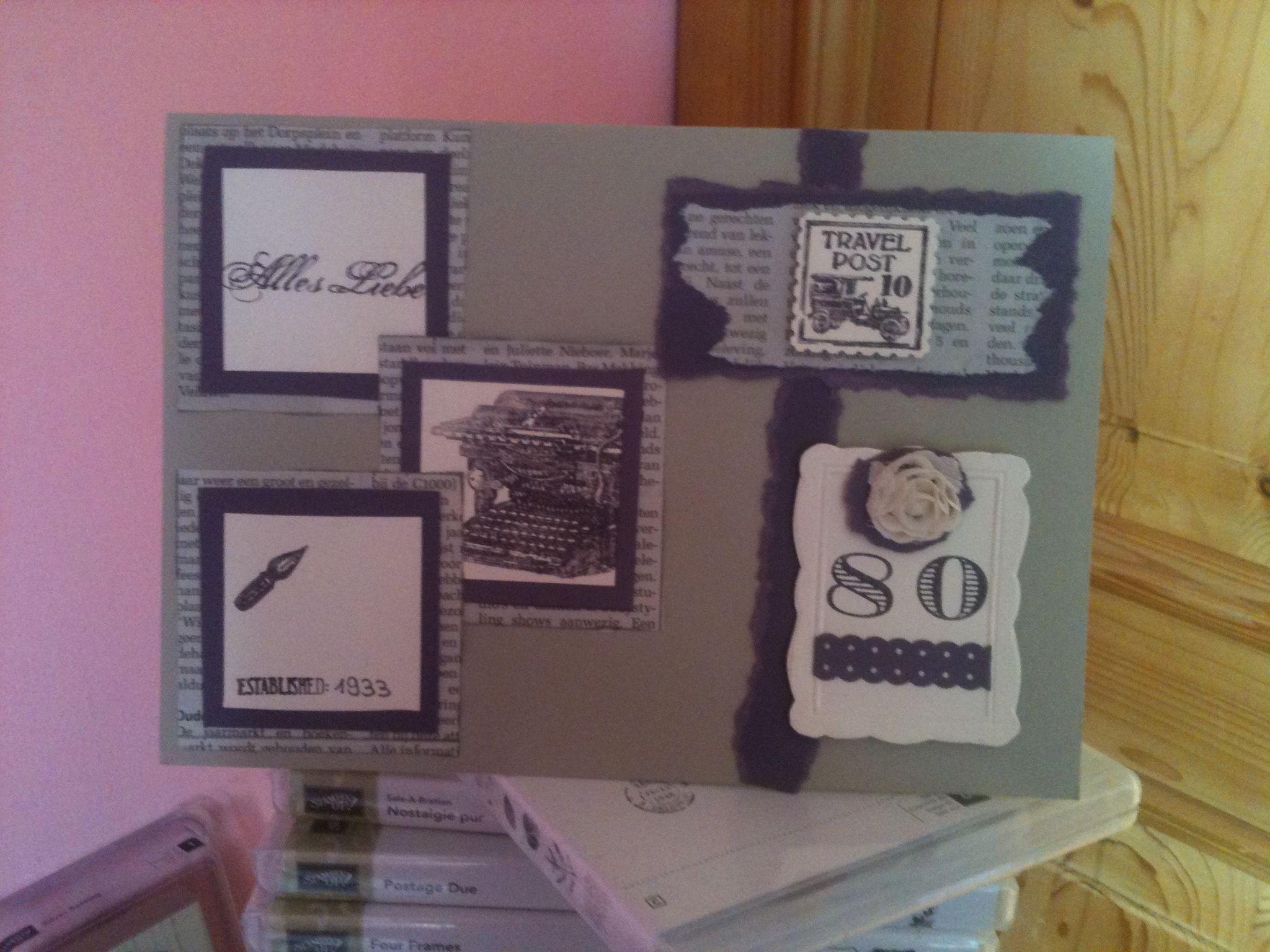 80.Geburtstagskarte mit stampin up