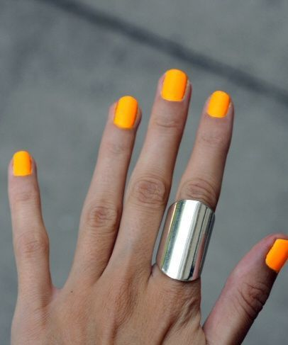 orly neon orange follow for more ashli0664  nails in