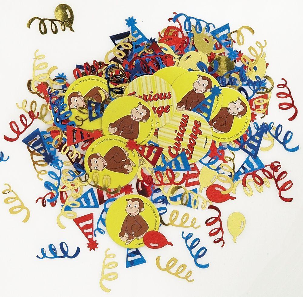 Curious George Party Confetti Table Decoration Sprinkles #Disney #Birthday https://twitter.com/BandPUSA