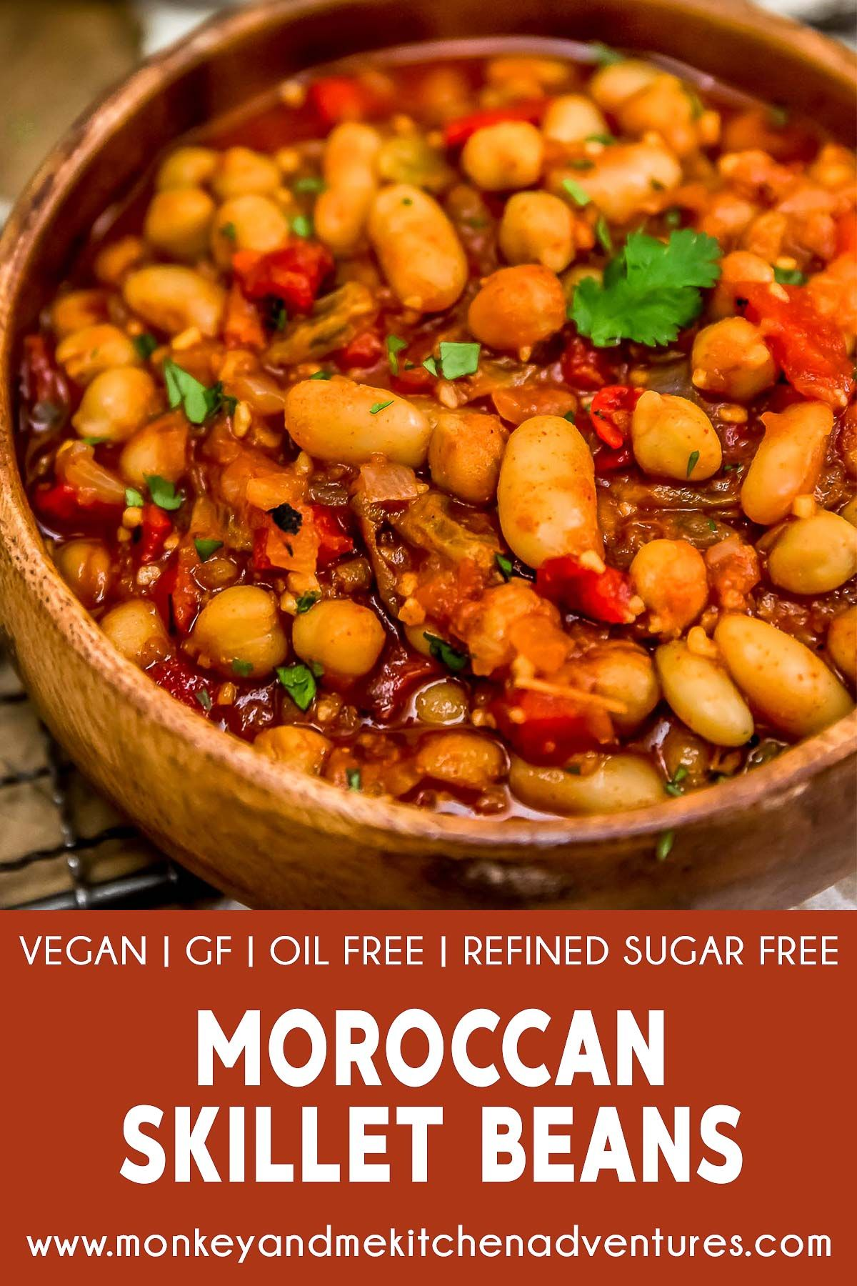 Moroccan Skillet Beans Spicy and sweet shine in this healthy, comforting, and delicious Moroccan Skillet Beans that is sure to delight your taste buds with the first bite. |