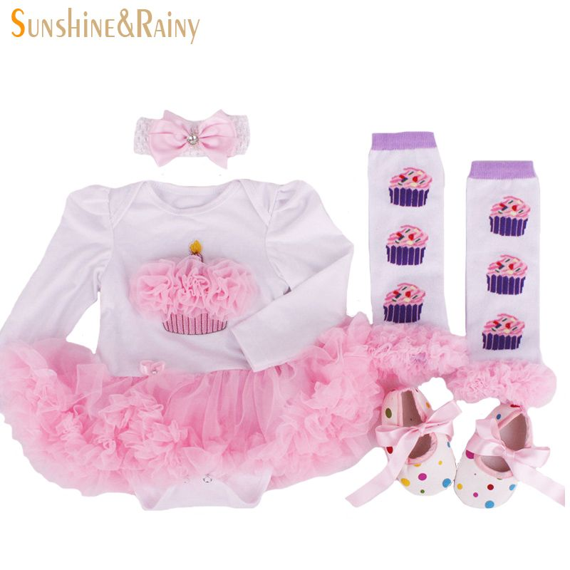 2016 neugeborenen kleidung baby geburtstag sets baby kleidung strampler prinzessin tutu kleid. Black Bedroom Furniture Sets. Home Design Ideas