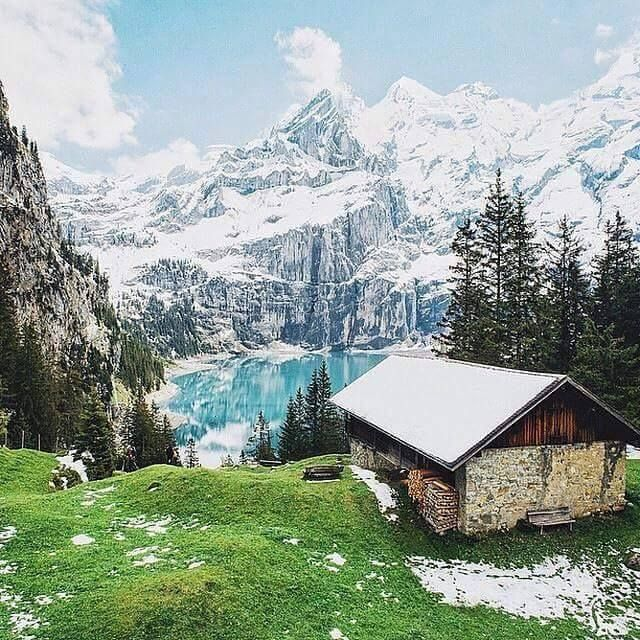 Oeschinensee, Kandersteg, Switzerland