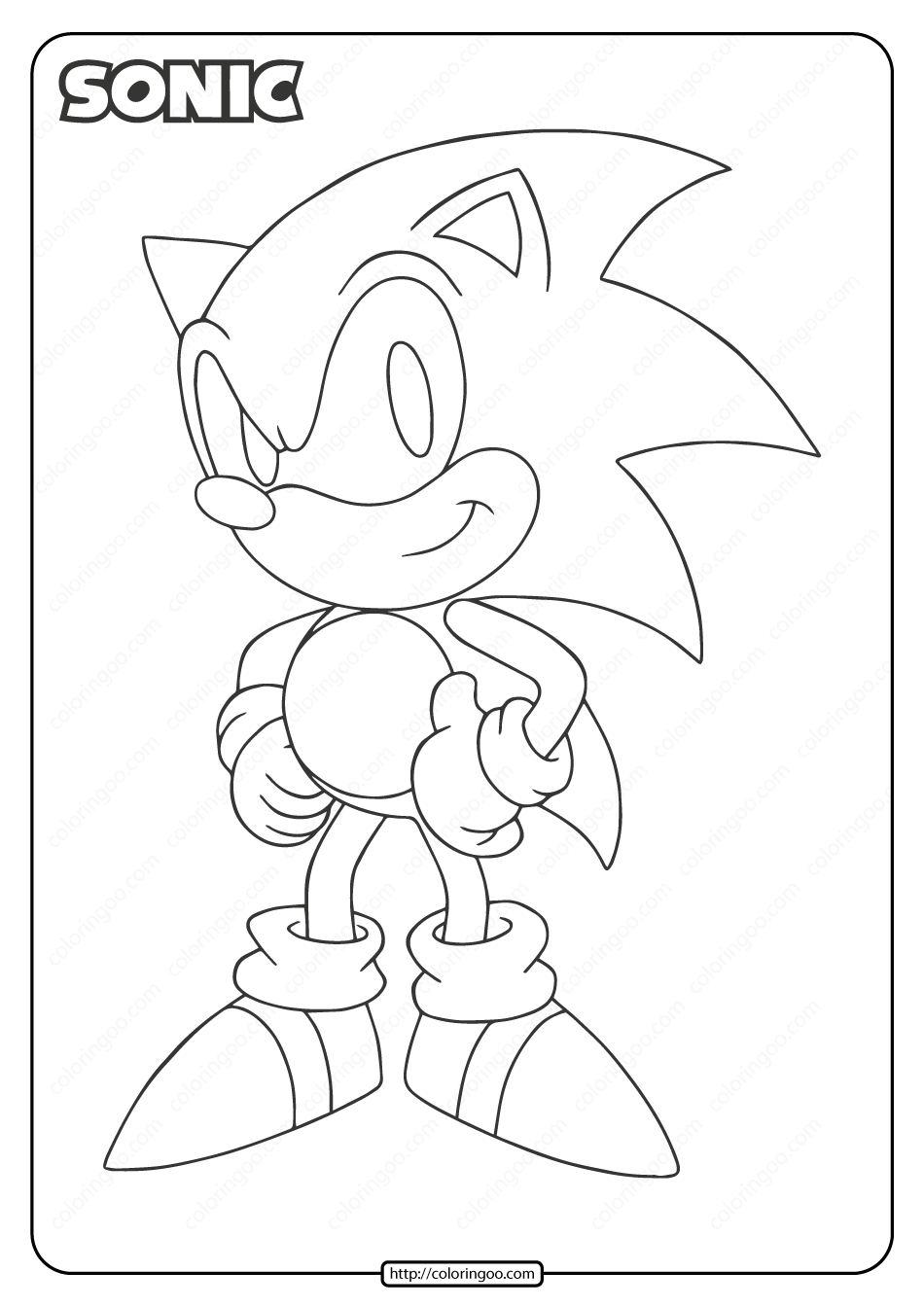 Sonic The Hedgehog Coloring Pages Pdf