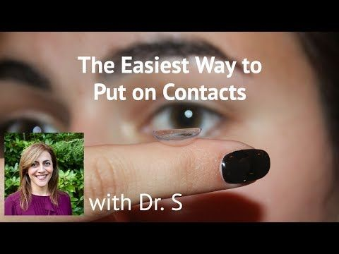 The Easiest Way to Put on Contacts - YouTube (With images ...