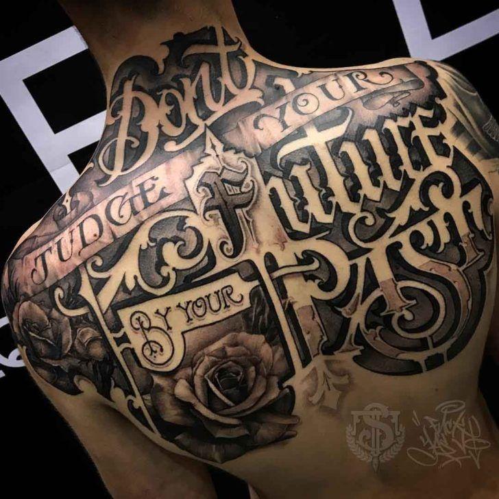 8ae6d4fd4 Upper Back Tattoo Lettering   Tattoo ideas   Upper back tattoos ...