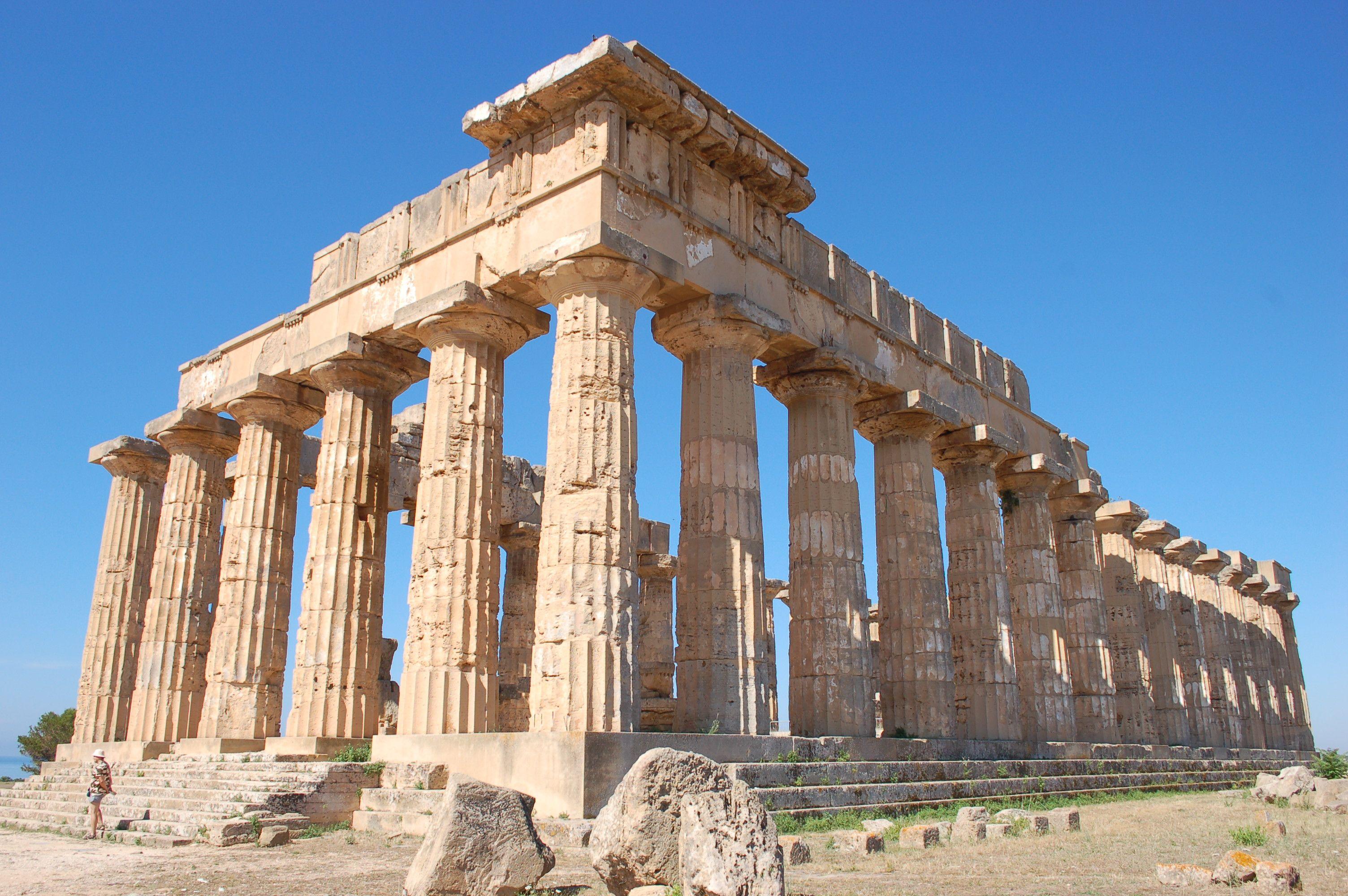 Templo Dórico De Hera I En Paestum Templo Dorico Arquitectura Griega Templo