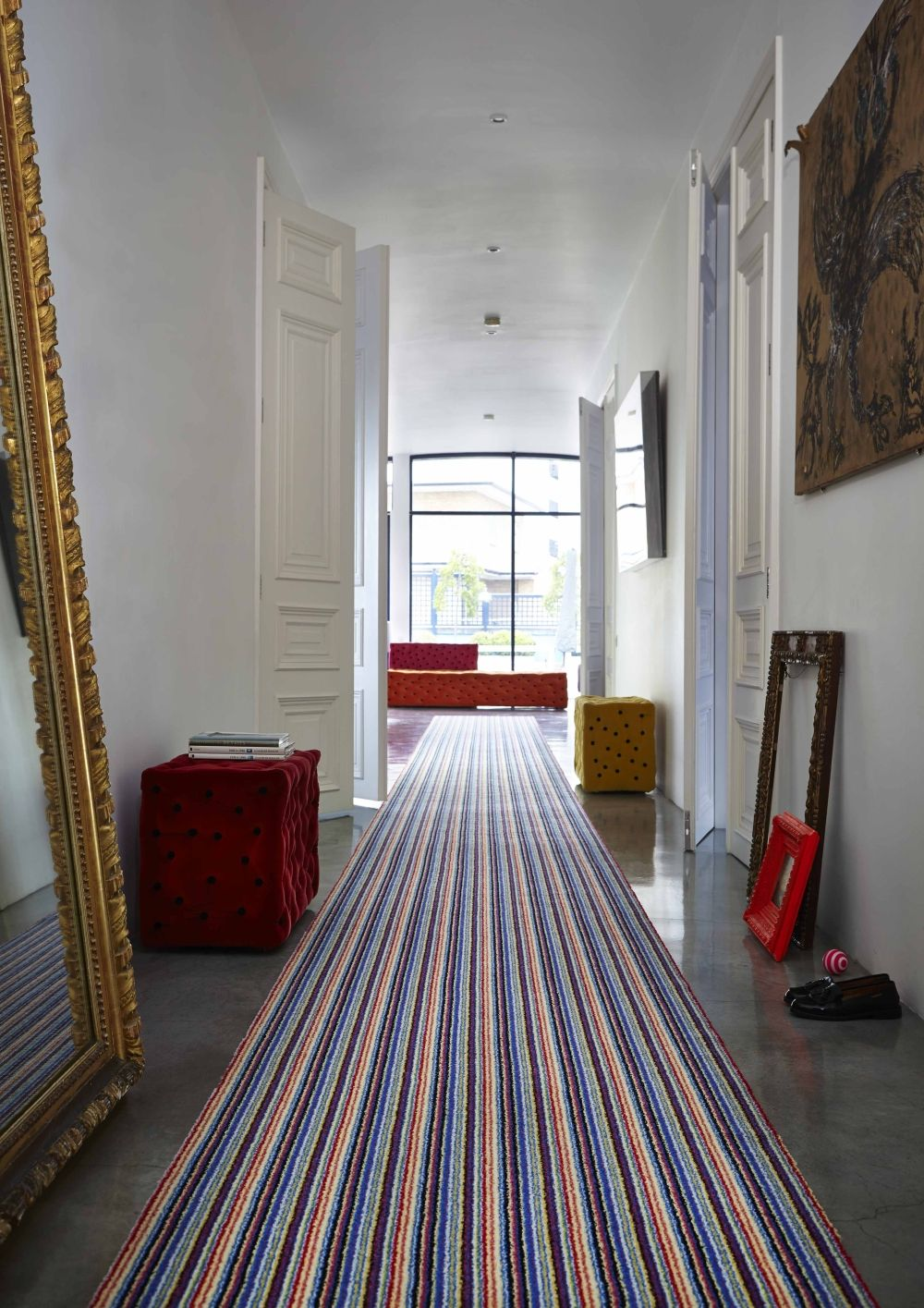 Best Hallway With Striped Carpet Runner Stripes Modern Urban 400 x 300