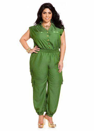 8c512d659c4 Industries Needs — Ashley Stewart Women s Plus Size Military Jumpsuit.