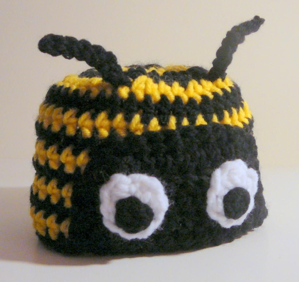 Crochet Bumble Bee Hat Pattern Crocheting Bumble Bee Hat