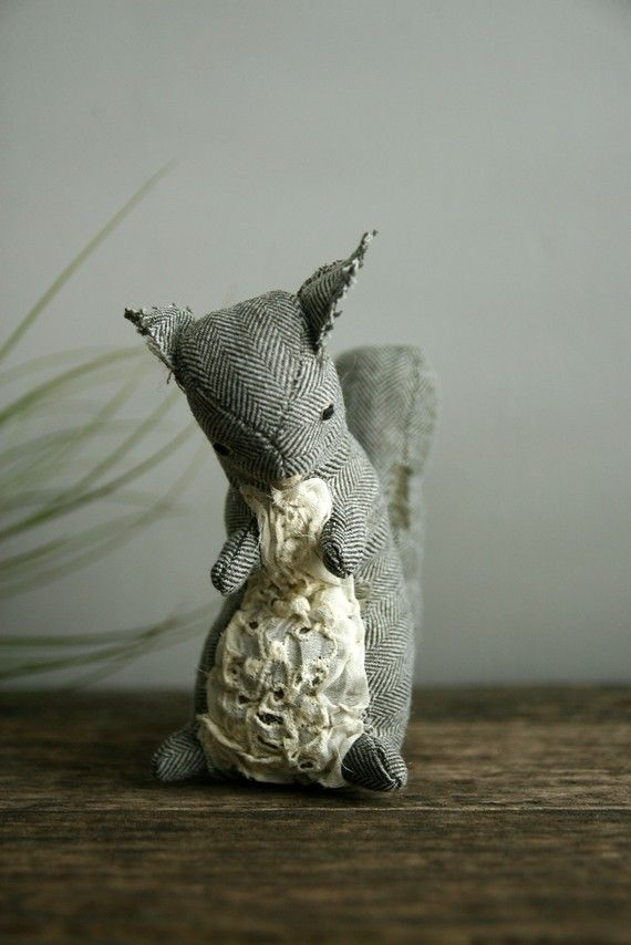 tweed + squirrels. never fails to amuse me.