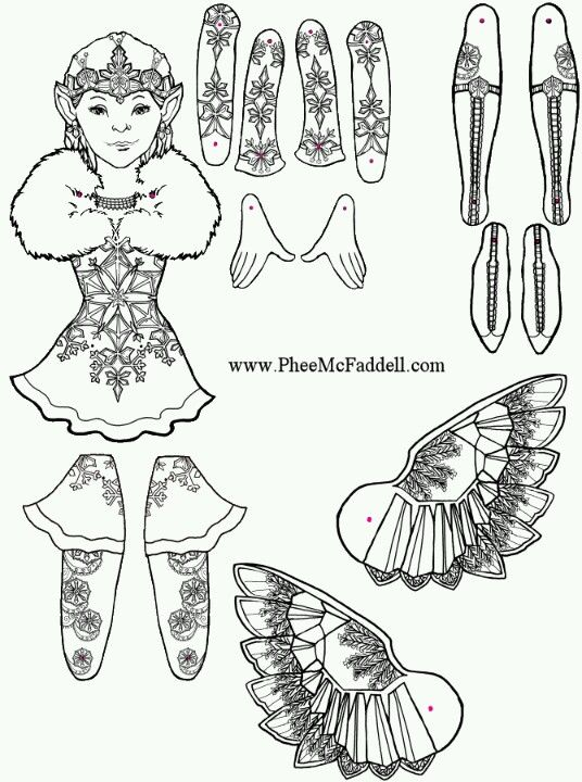 Phee McFaddell Artist just one of her free puppet coloring