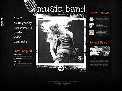 LIKE AND CLICK TO RECEIVE MUSIC BAND WEBSITE TEMPLATE FREE! You ...
