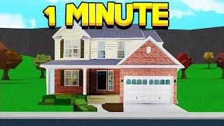 I Did The Bloxburg 1 Minute House Build Off Challenge Roblox