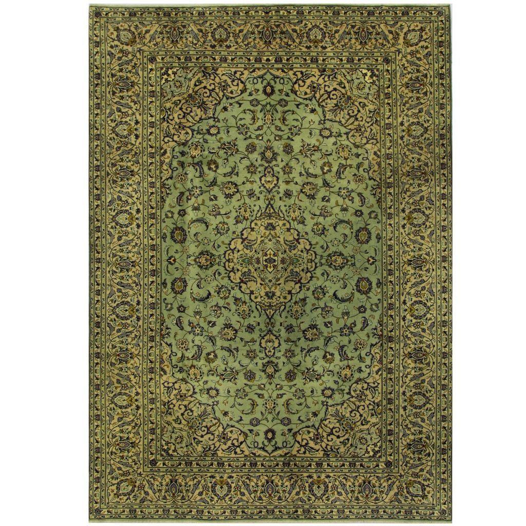 Herat Oriental Persian Hand Knotted Kashan Wool Rug 8 1 X 11 6