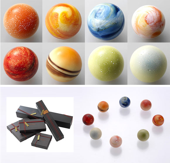 Perfect Chocolate Planets- cool for when the kids have a project on the solar system. :)