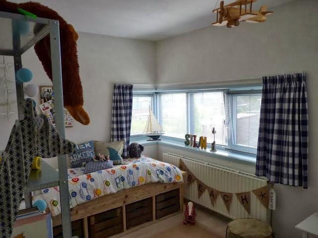 Kinderkamer Gordijnen Sterren : Gordijnen kinderkamer blauw