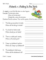 Printables Adverb Worksheets 1000 images about adverb worksheets on pinterest activities whats the and kids reading
