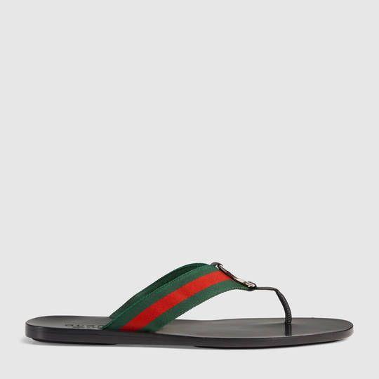 29c8bcdce24f Gucci Web strap thong sandal