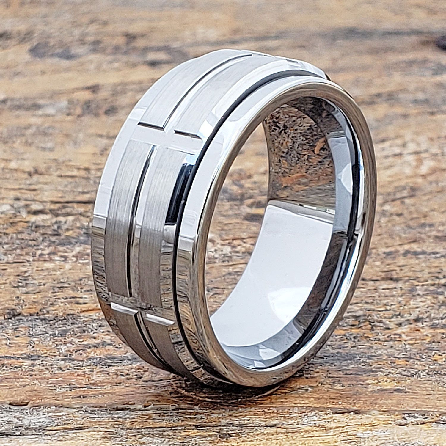 Mens Wedding Band Spinner Ring Tungsten Wedding Rings For Etsy Tungsten Mens Rings Unique Rings Mens Wedding Bands