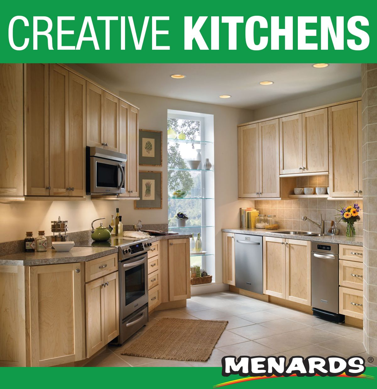 No Matter How Your Kitchen Is Laid Out Medallion Cabinetry Has A Solution For You These Cabinets Shown In Hawthorne Maple Kitchen Cabinet Kitchen Cabinets