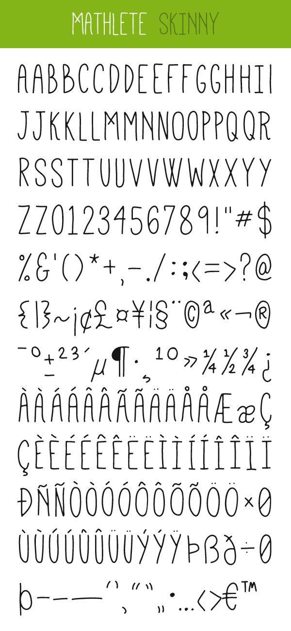 #free #font Mathlete by Mattox