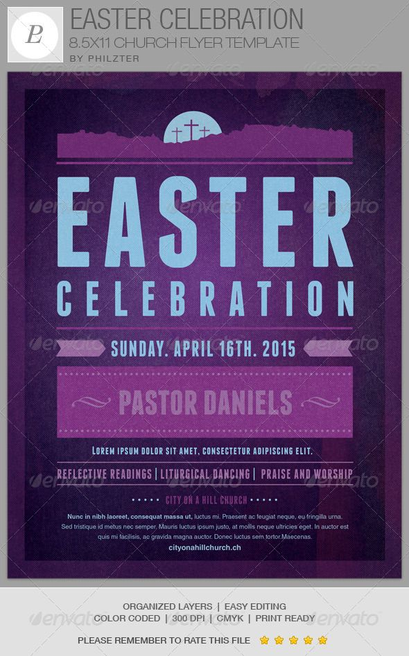 Easter Celebration Church Flyer Template Celebration church - benefit flyer template