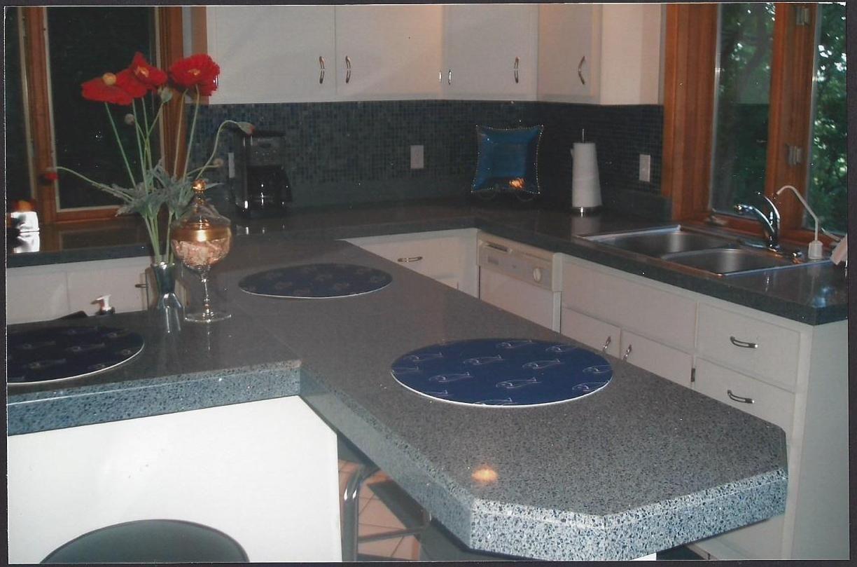 Granite Transformations Granite Countertops In Grigio Stella (retired)  Mosaic Backsplash In Oceano. 2006