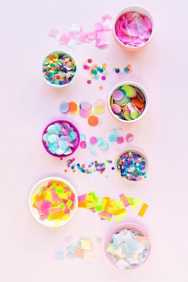 Diffe Types Of Fun Colorful Confetti
