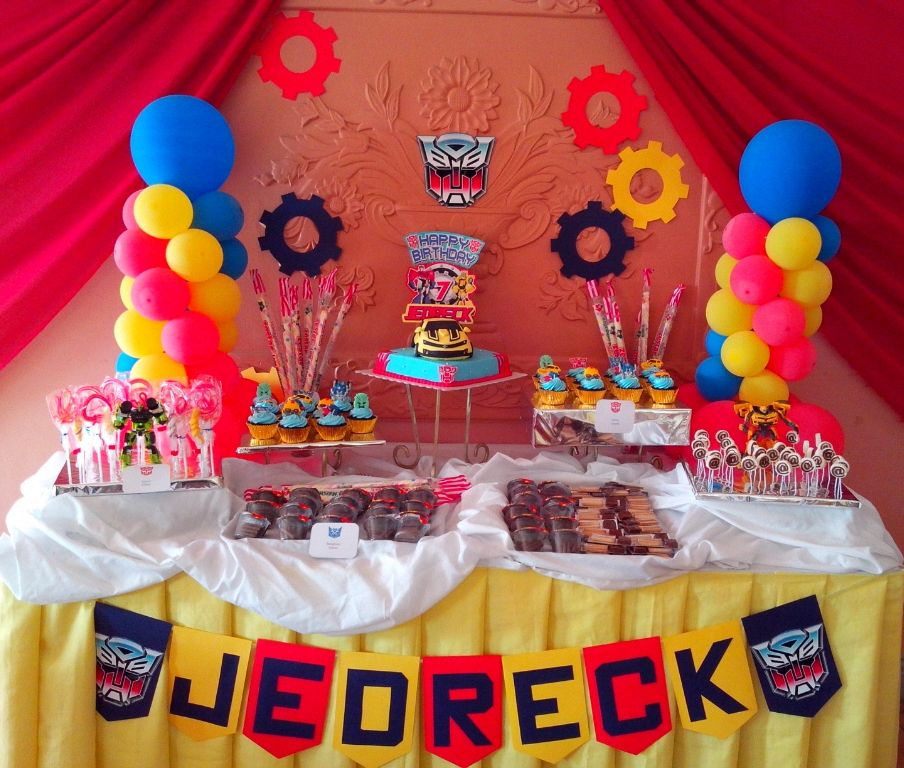 Rocel Recently Organized A Transformer's Birthday Party
