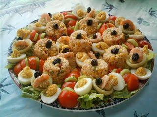 طرق تزيين وتقديم السلطات إبداع وفن موقع أم سيرين موقع الطبخ والحلويات المغربية Moroccan Food Food Challenge Food