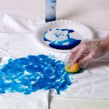Sponge Tie Dye Technique from Tulip | FaveCrafts.com