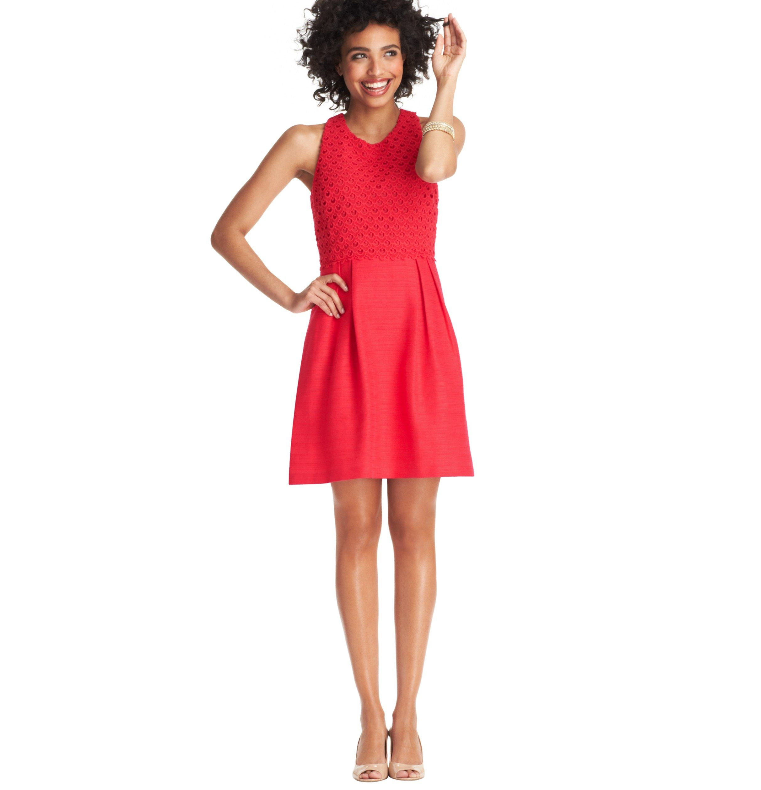 Textured Lace Bodice Full Skirt Dress | Loft