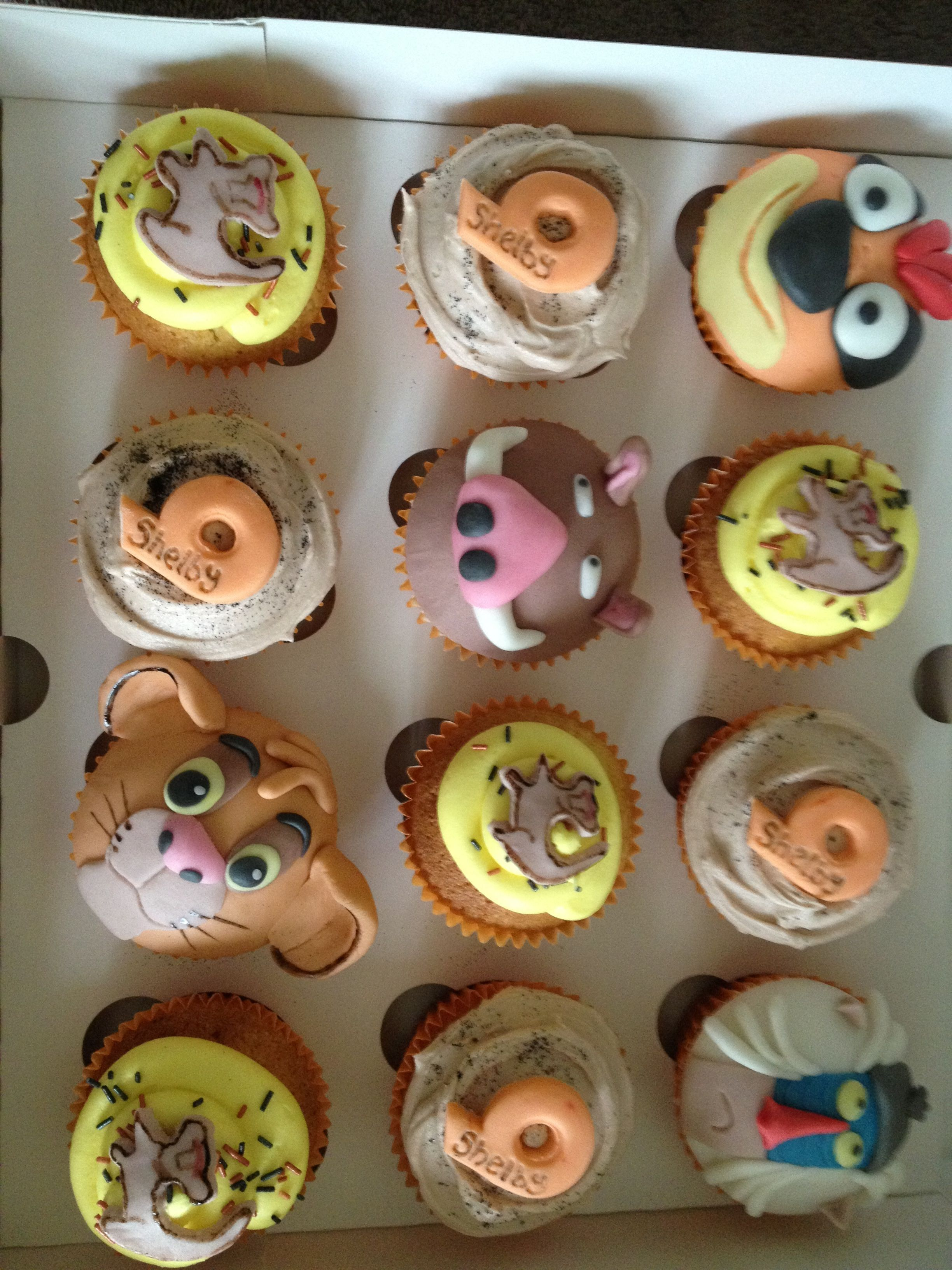 Lion King Cupcakes With Images Lion King Cakes Lion King