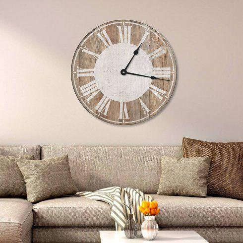 Farmhouse Clock Stencil Latin Numerals Large Rustic Stencils DIY Reclaimed Wood Via Cutting Edge