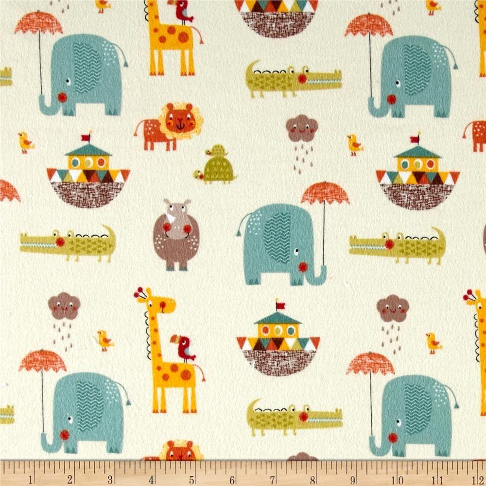 Northcott Animal Alphabet Bright Orange Red Check Child Baby Kid Quilt Fabric 1A